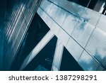 abstract architecture detail in ... | Shutterstock . vector #1387298291