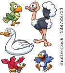 Cartoon Birds. Vector Clip Art...