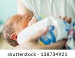 newborn in the maternity ward | Shutterstock . vector #138734921
