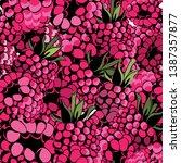 raspberries seamless pattern....   Shutterstock .eps vector #1387357877
