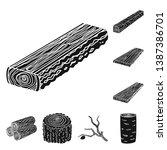 vector illustration of hardwood ... | Shutterstock .eps vector #1387386701