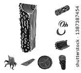 vector design of hardwood  and... | Shutterstock .eps vector #1387387454