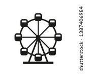 Ferris Wheel Icon. Simple...