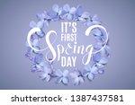 first spring day elegant... | Shutterstock .eps vector #1387437581