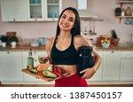healthy food concept.... | Shutterstock . vector #1387450157