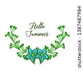 vector illustration greeting... | Shutterstock .eps vector #1387487984