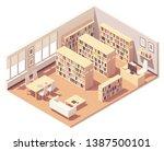 vector isometric school ... | Shutterstock .eps vector #1387500101