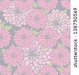 vintage floral seamless pattern.... | Shutterstock .eps vector #138750569