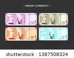 vector new indian currency...   Shutterstock .eps vector #1387508324