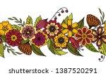 endless horizontal brush from...   Shutterstock .eps vector #1387520291