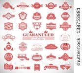 vintage design elements. labels ... | Shutterstock .eps vector #138753881