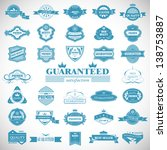 vintage design elements. labels ... | Shutterstock .eps vector #138753887
