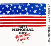happy memorial day   national... | Shutterstock .eps vector #1387550537
