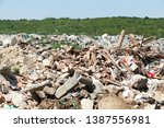 municipal garbage dump at... | Shutterstock . vector #1387556981
