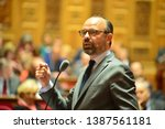 Small photo of PARIS, FRANCE - APRIL 30, 2019 : French Prime Minister Edouard Philippe Take parts at the French Senate for the weekly Questions for the Government by French Senators
