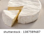 Close View On Brie Cheese. Big...