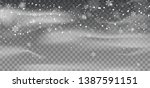 falling snow. transparent snow... | Shutterstock .eps vector #1387591151