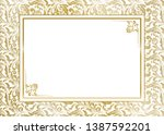 wedding invitation  certificate ... | Shutterstock .eps vector #1387592201