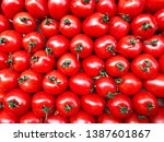 cherry tomatoes texture. red... | Shutterstock . vector #1387601867