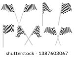 race flags vector illustration... | Shutterstock .eps vector #1387603067