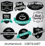 set of vintage retro labels ... | Shutterstock .eps vector #138761687