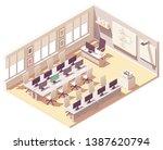 vector isometric school... | Shutterstock .eps vector #1387620794
