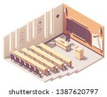 vector isometric college or... | Shutterstock .eps vector #1387620797