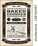 Vintage Bakery Poster. Editabl...