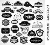 vintage design elements. labels ... | Shutterstock .eps vector #138763145