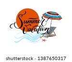 summer vacation. summer... | Shutterstock .eps vector #1387650317