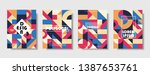 set of retro covers. collection ... | Shutterstock .eps vector #1387653761