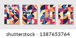 set of retro covers. collection ... | Shutterstock .eps vector #1387653764