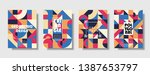 set of retro covers. collection ... | Shutterstock .eps vector #1387653797