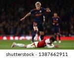 daniel wass of valencia fouls... | Shutterstock . vector #1387662911