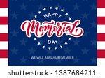 memorial day. we will always... | Shutterstock .eps vector #1387684211