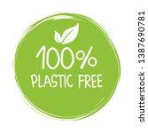 zero waste  plastic free  vegan ... | Shutterstock .eps vector #1387690781