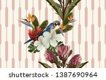 vintage beautiful and trendy... | Shutterstock . vector #1387690964