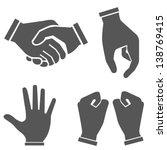 hand sets | Shutterstock .eps vector #138769415