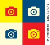 camera icon. yellow  blue and...
