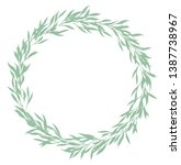 gentle circlet made of small... | Shutterstock .eps vector #1387738967