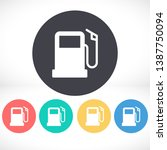 gas station icon vector. lorem... | Shutterstock .eps vector #1387750094