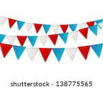 independence day flags on white | Shutterstock .eps vector #138775565