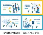 set of landing pages of the... | Shutterstock .eps vector #1387763141