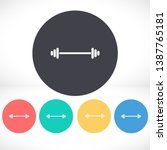 dumbbell  icon vector 10 eps...