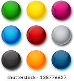 set of blank colorful round... | Shutterstock .eps vector #138776627