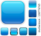 set of blank blue square... | Shutterstock .eps vector #138776765
