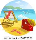 illustration with a suitcase  a ... | Shutterstock .eps vector #138776921