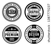 a vintage badge design set. | Shutterstock .eps vector #1387775237