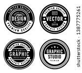 a vintage badge design set. | Shutterstock .eps vector #1387775261