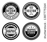 a vintage badge design set. | Shutterstock .eps vector #1387775264